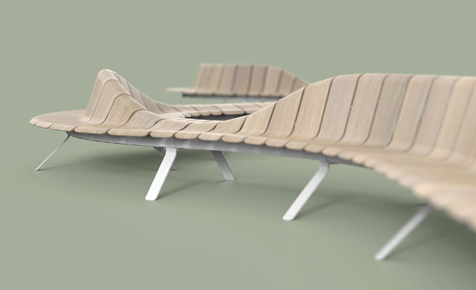 green furniture concept ascent line