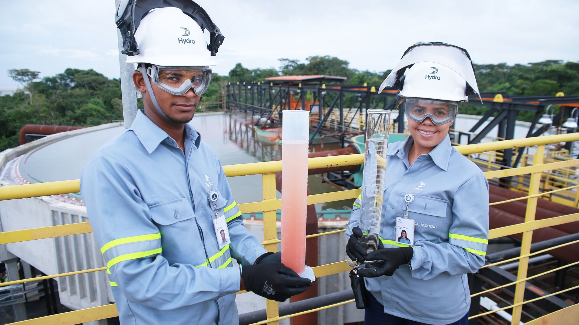 water samples at alunorte refinery in brazil