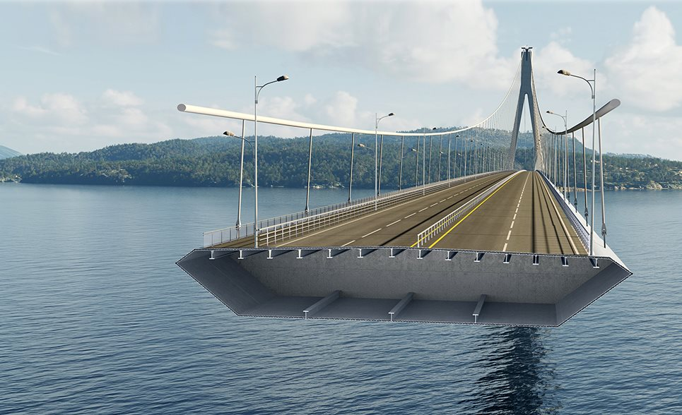 Illustration of aluminium bridge