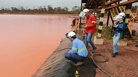inspection of red mud dam