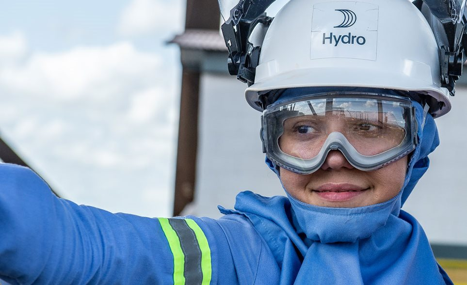 Hydro worker in protective gear