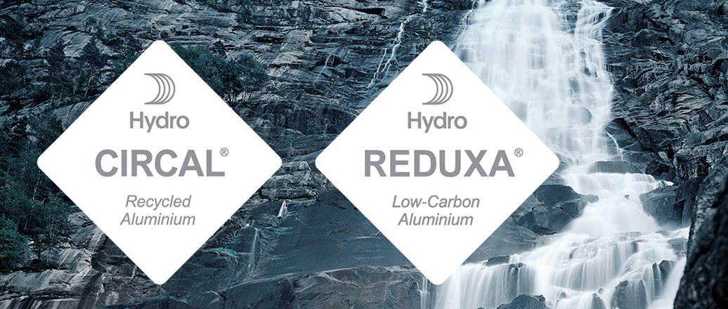 Hydro CIRACL and Hydro REDUXA hang tag logos on with waterfall in background