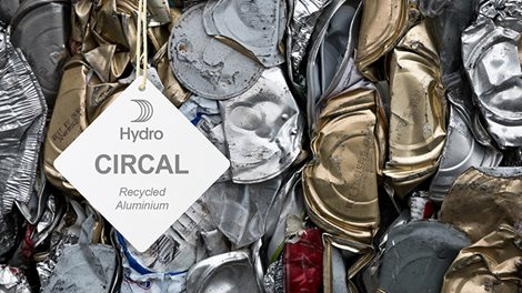 circal hangtags superimposed on aluminium scraps