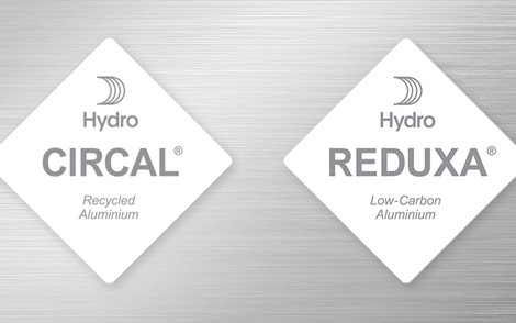Hydro CIRACL and Hydro REDUXA hang tag logos on metallic background