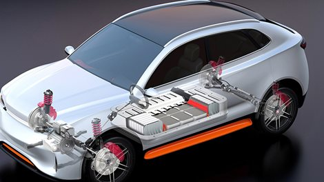 cutaway drawing of electrical car