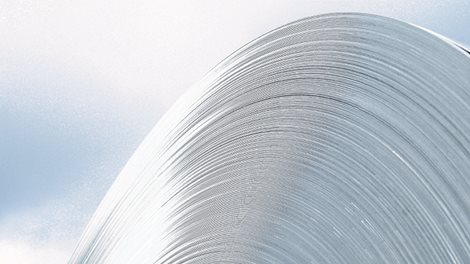 large roll of aluminium