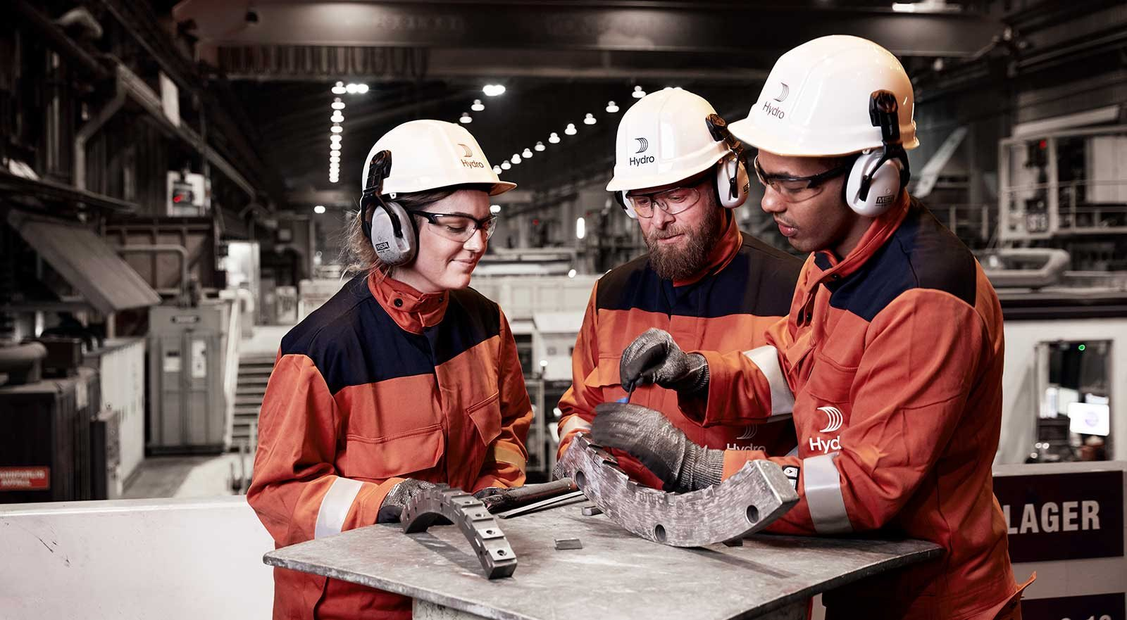 Three Hydro employees at Karmøy, Norway