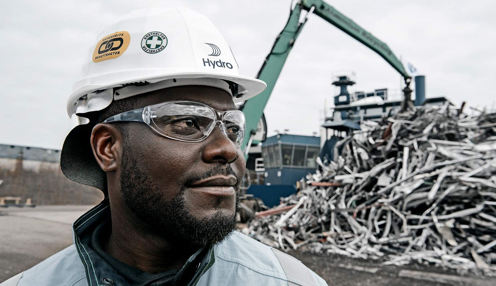 operator at St. Peter recycling plant in Dormagen, Germany.