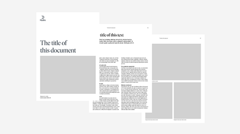 different documents typography layouts