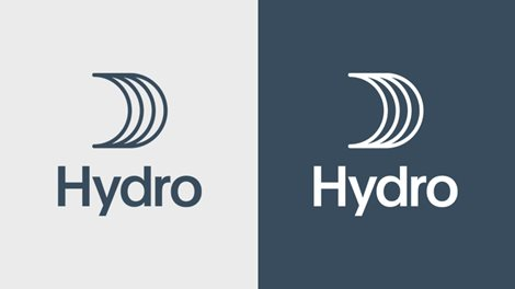 hydro logo dark on light, and reverse