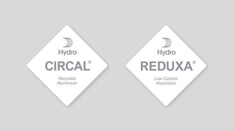 Hydro CIRCAL and Hydro REDUXA tags on gray