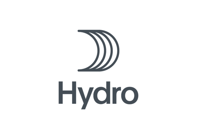 Hydro logo vertical blue