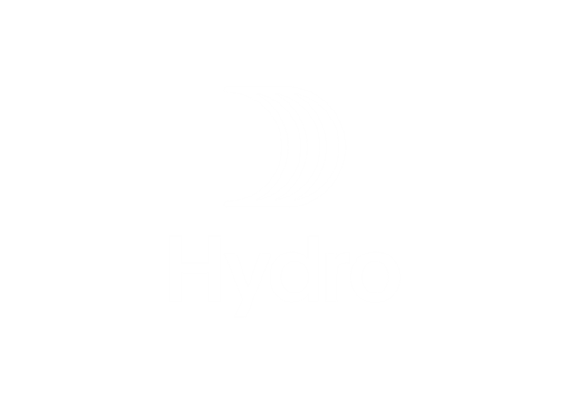 Hydro logo vertical white