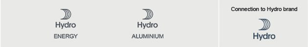 Hydro sail symbol with text Hydro Energy. Similar with text Hydro aluminium