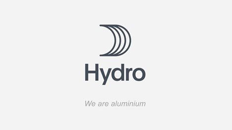 "Hydro sail logo with tagline ""We are aluminium"""