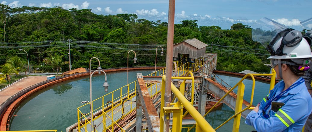 Water treatment facilities at Alunorte