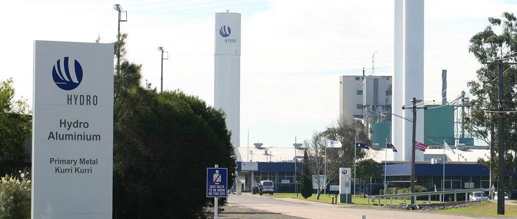 Hydro sign outside kurri kurri plant