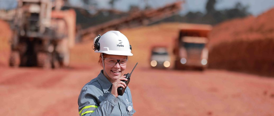 Employee at Paragominas mine, Brazil
