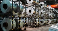 Flat rolled products at Hydro Holmestrand's lacering unit.