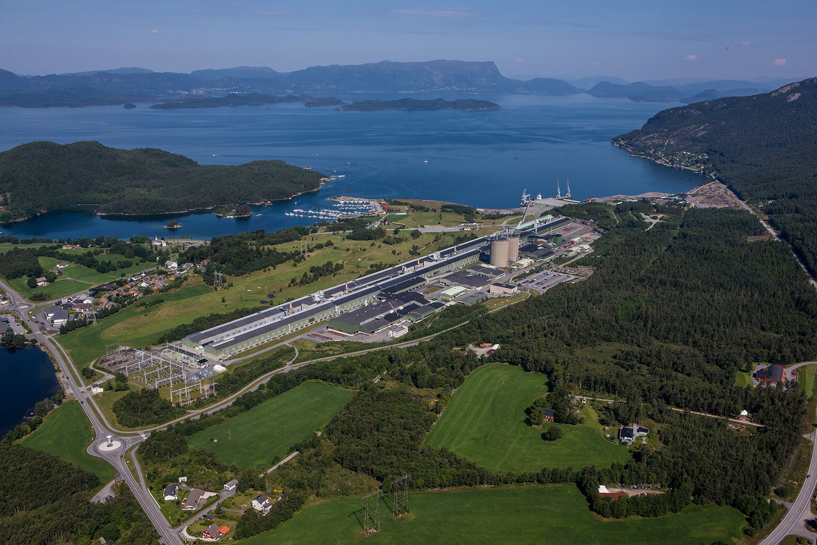 Husnes aluminium plant in Norway