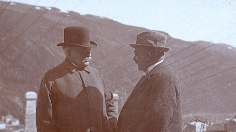 A meeting between prime minister Gunnar Knudsen and Sam Eyde
