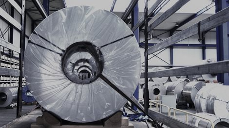coil of rolled aluminium