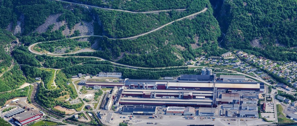 Aerial photo of Hydro Årdal